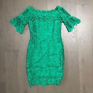 Paper Dolls OTS Crochet Lace Midi Dress